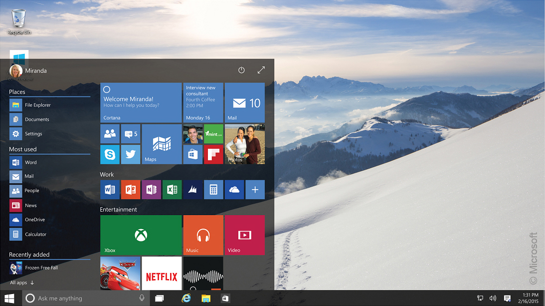 Windows 10: Microsoft enthüllt alle neuen Highlights